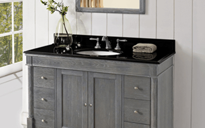 picture of gray and black vanity