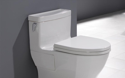 Picture of a white toilet