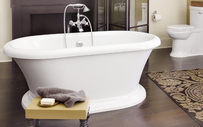 picture of white roman tub